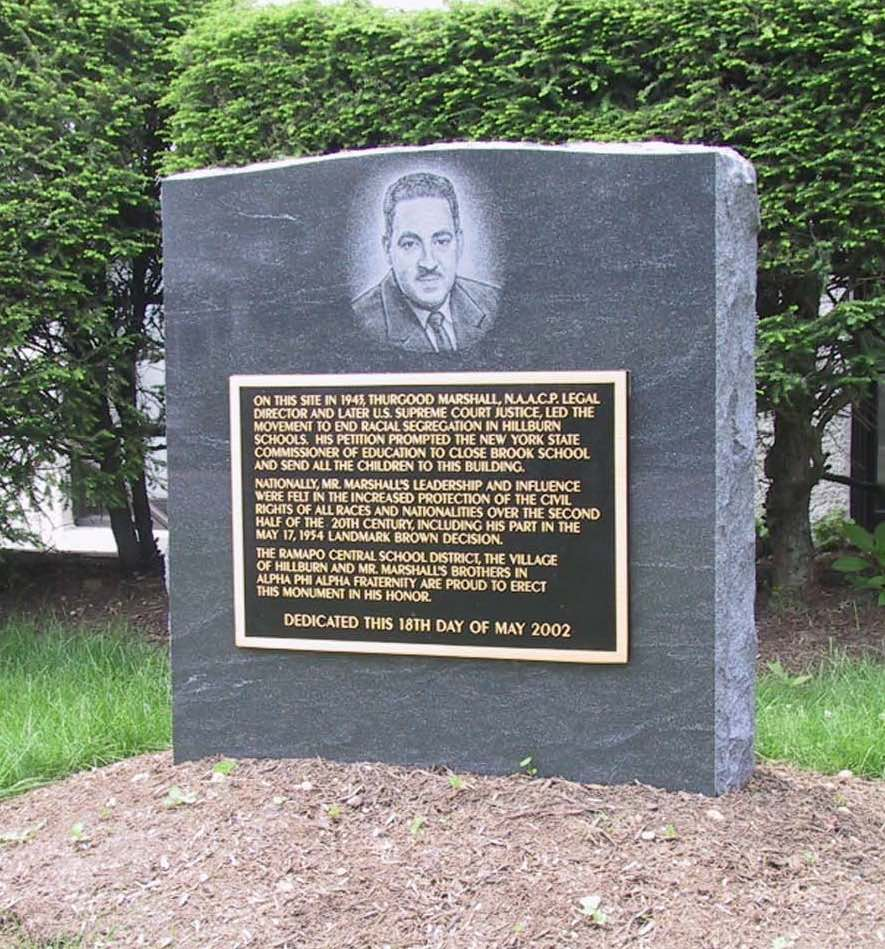 Civic Memorial – Etching -Thurgood Marshall