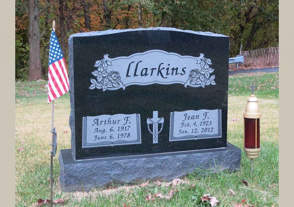 Companion monument – Christian – Catholic – Harkins