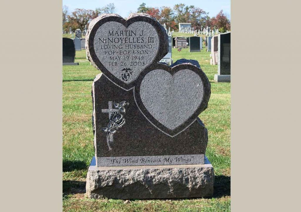 Companion monument – Christian – Catholic – Hearts – DeNoyelles